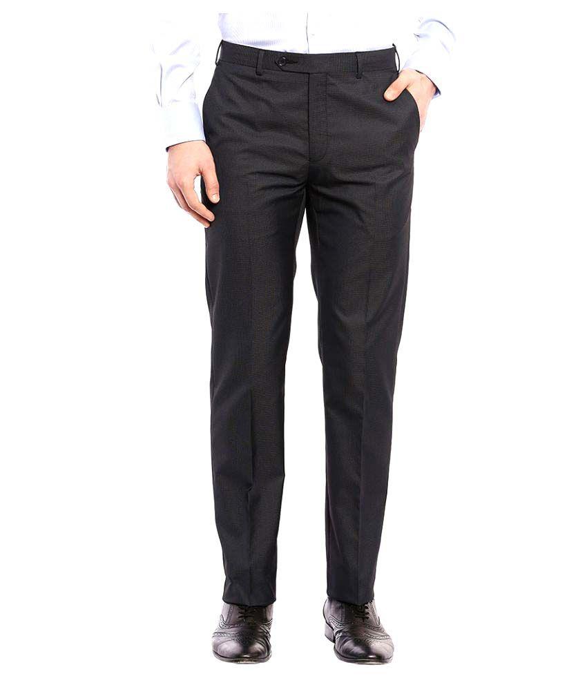 Raymond Black Regular Pleated Trouser
