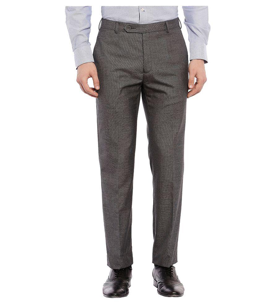 Raymond Grey Regular Pleated Trouser