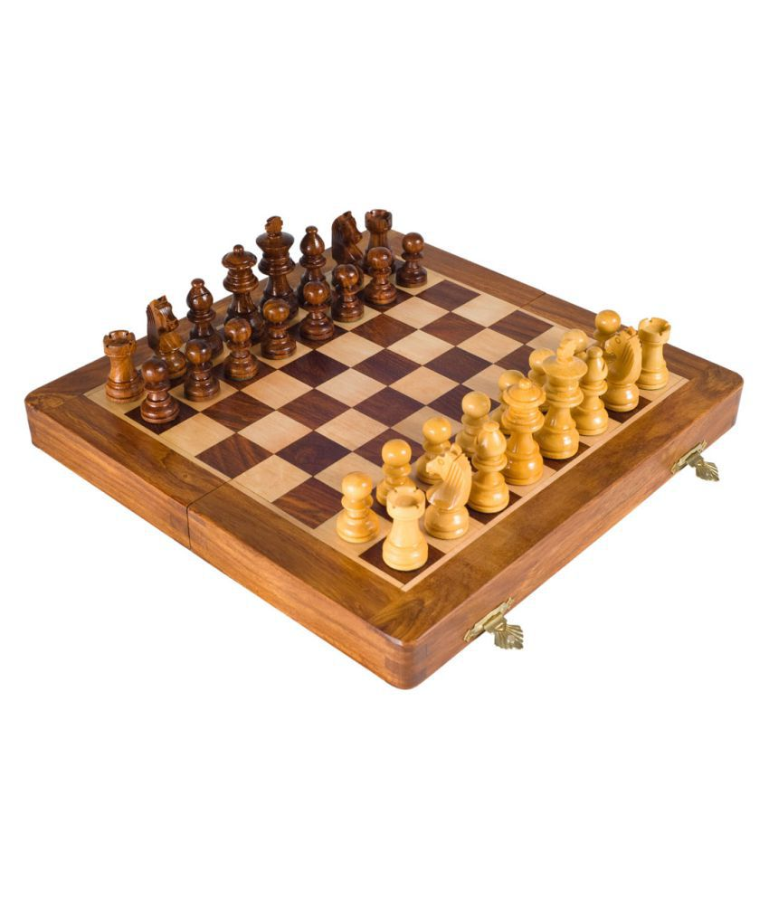 Trendy Ile Brown Magnetic Travel Chess 7 Inch