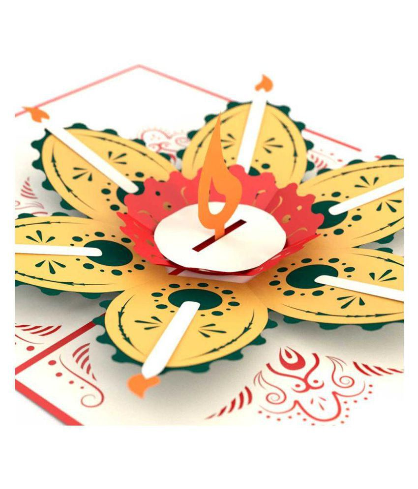 Indifashion Red Diwali Greeting Cards Buy Online At Best Price In