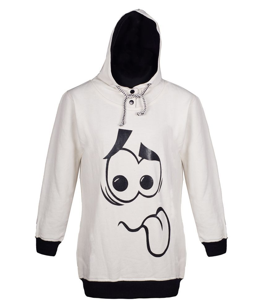 Naughty Ninos Girls White hooded Sweatshirt
