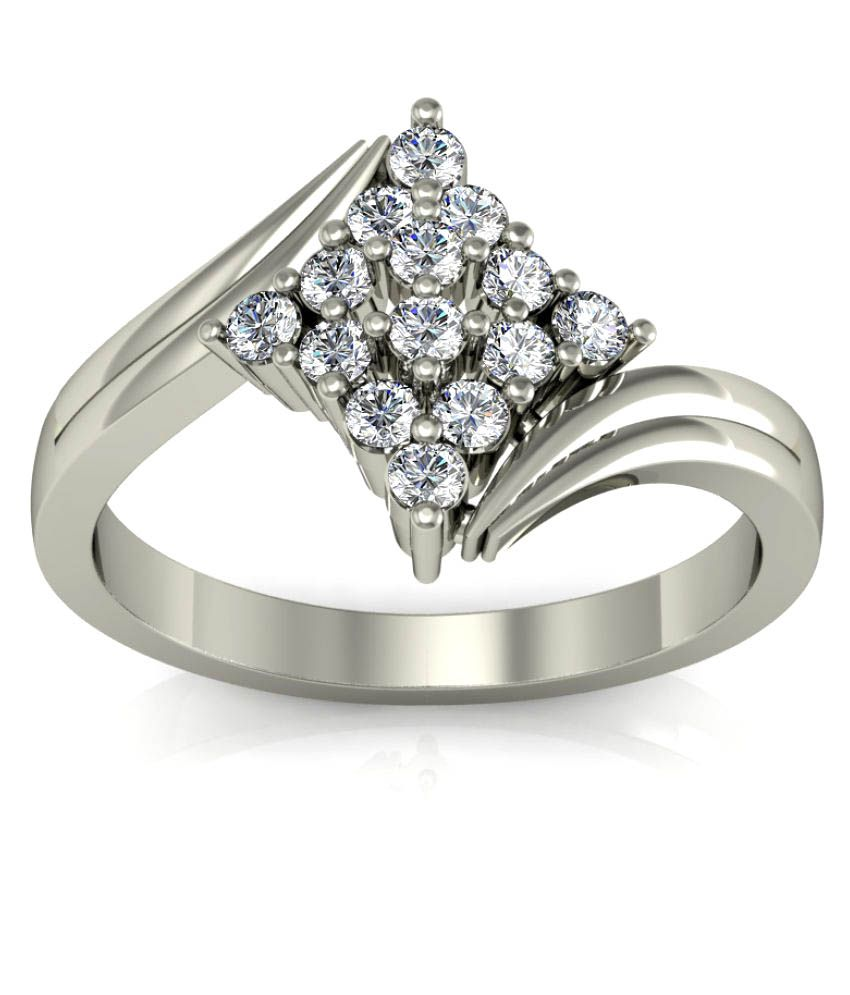 Diaonj 18k White Gold Ring
