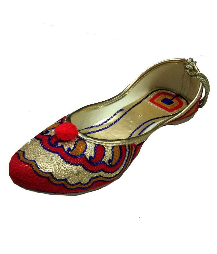 Kalakari E Shop Multi Color Flat Ethnic Footwear