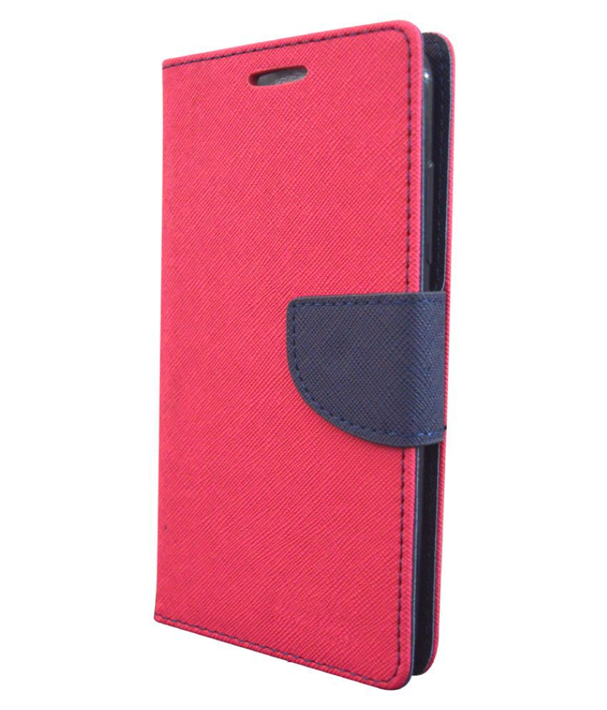 Micromax Canvas Nitro A311 Flip Cover by Coverage - Pink
