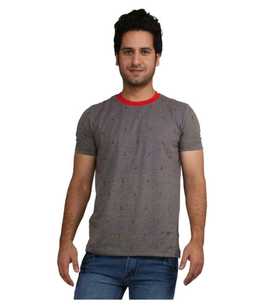 Rags Style Grey Round T-Shirt