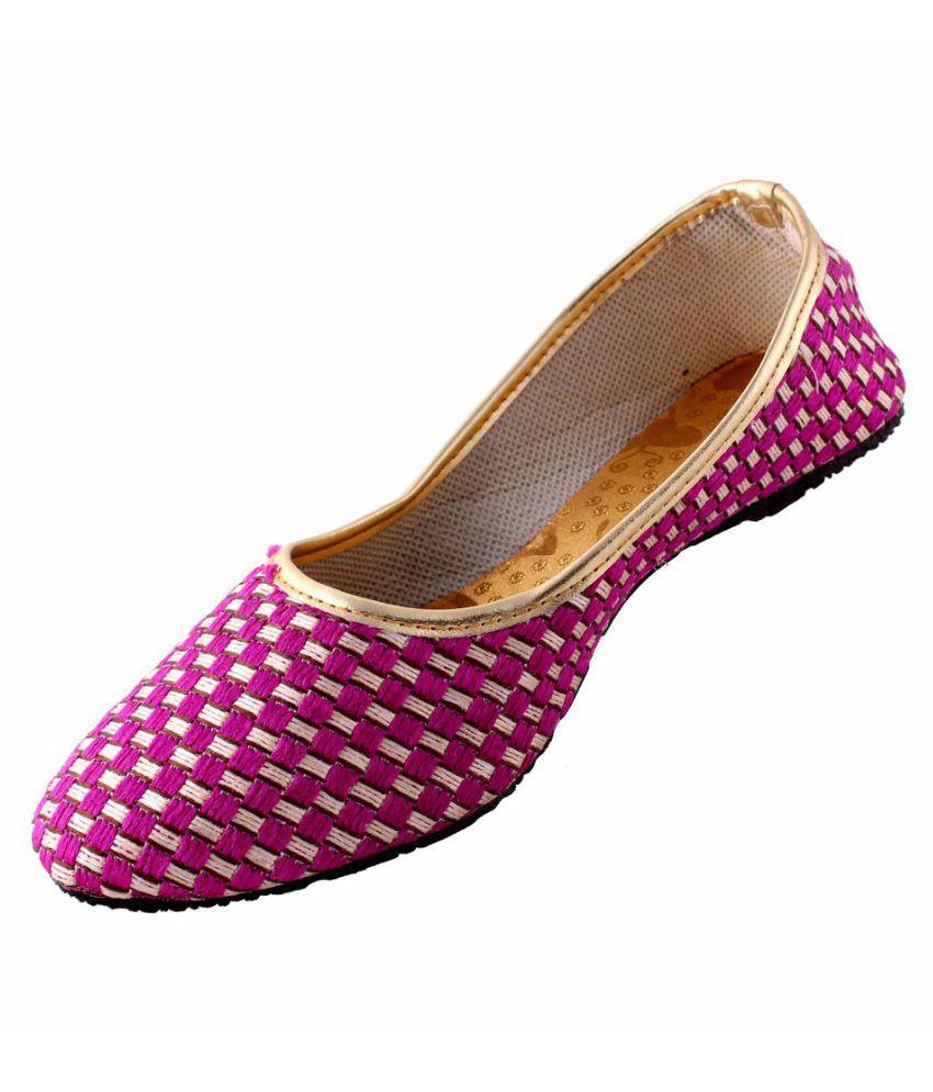 Neerupam Collection Purple Flat Ethnic Footwear