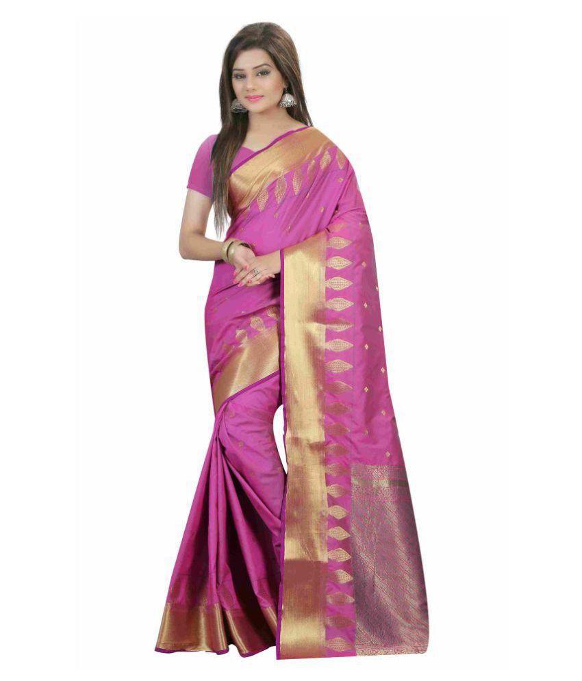 Stuti Fashion Pink Silk Saree