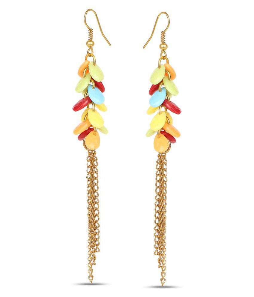 Johareez Multicolour Hanging Earrings