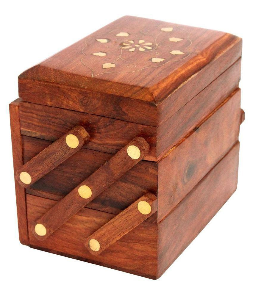 Craftgasmic Brown Wooden Jewellery Box