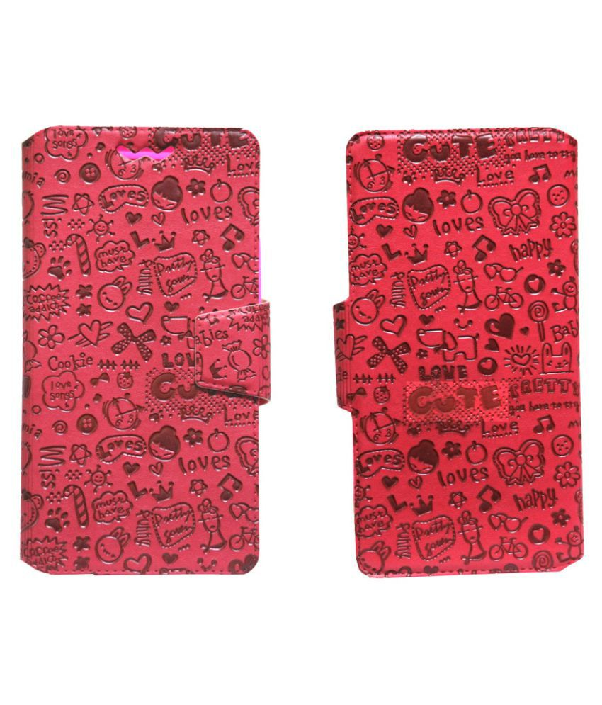 Microsoft Lumia 950 Flip Cover by Jojo - Red