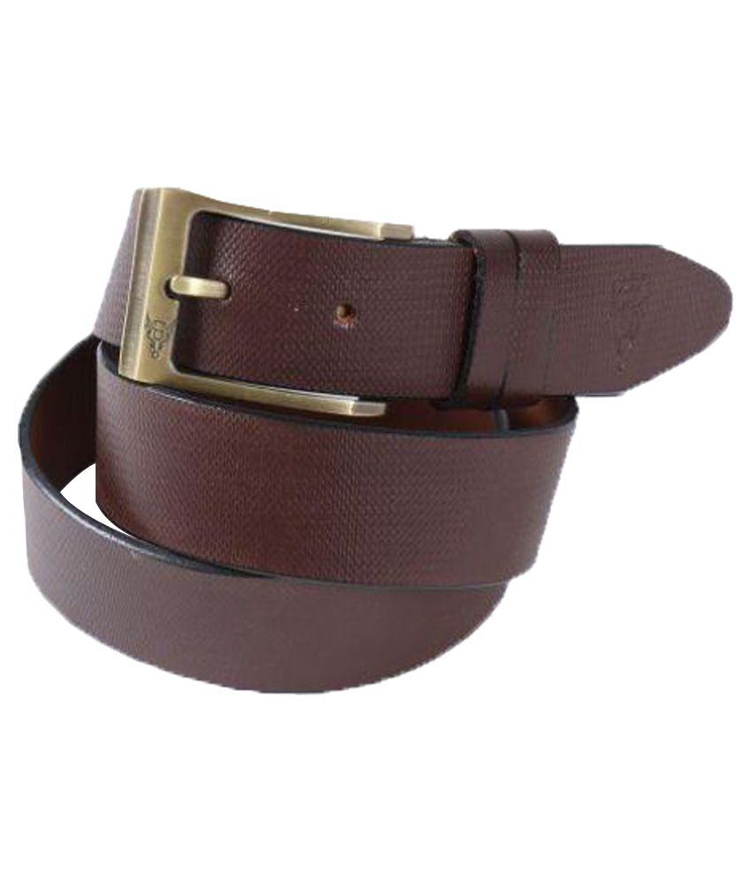 Black Buck Brown Leather Formal Belts