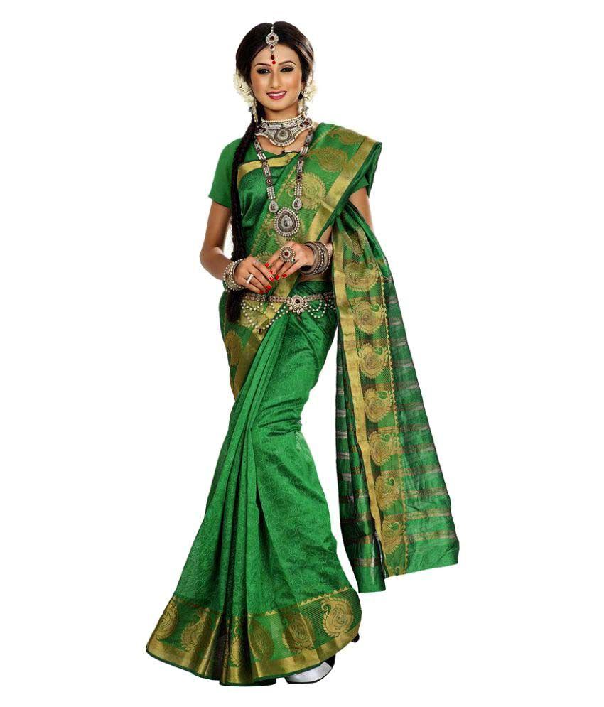 Fabvila Green Banarasi Silk Saree