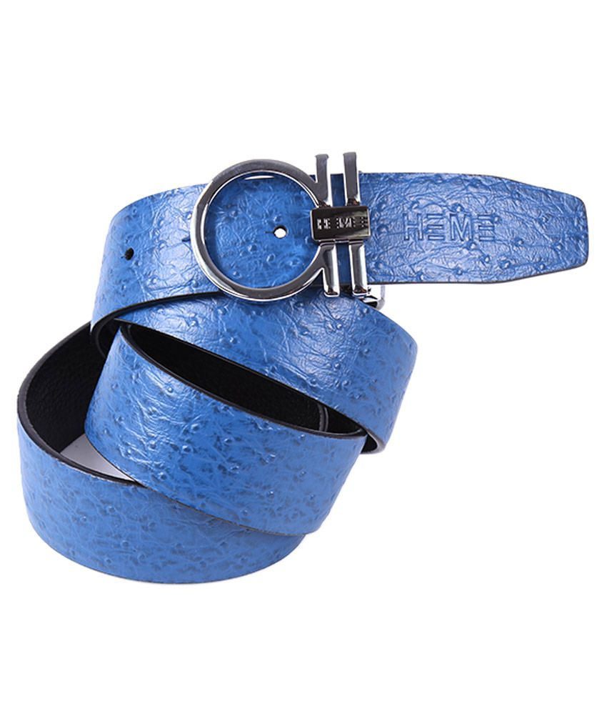 Black Buck Blue Leather Party Belts