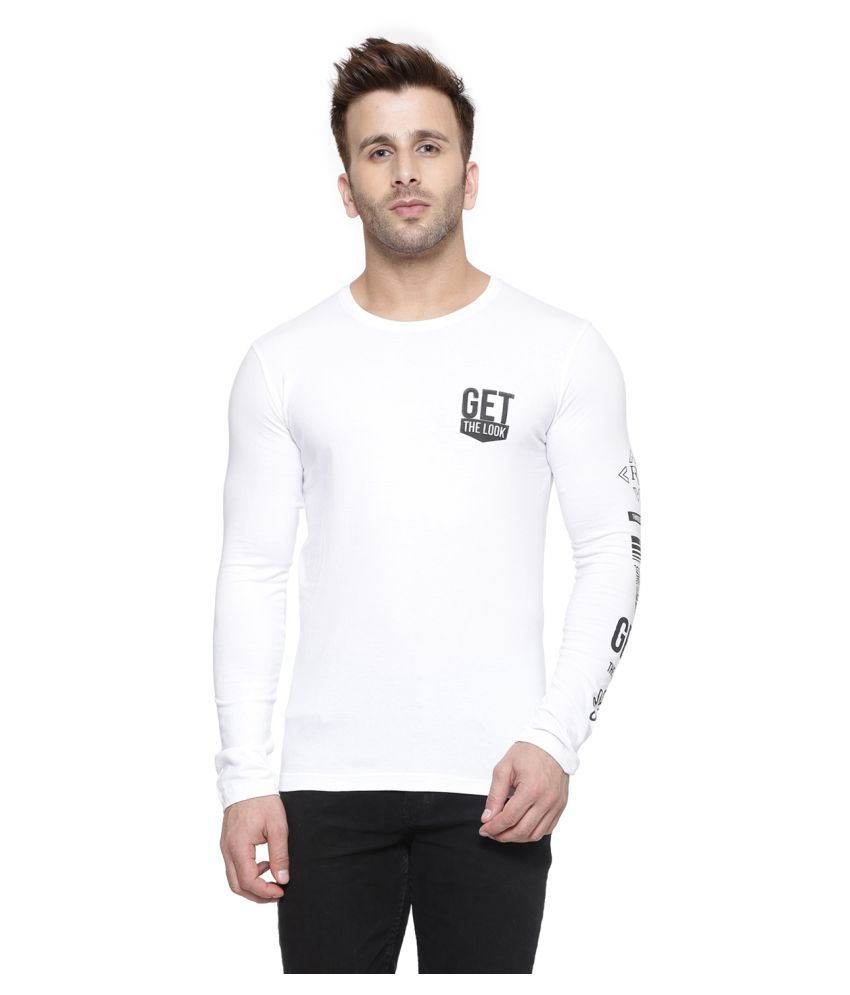 Gespo White Round T-Shirt