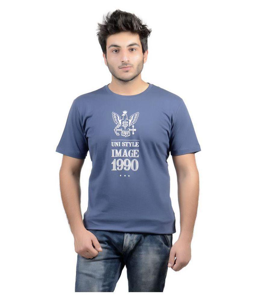 Uni Style Image Navy Round T-Shirt
