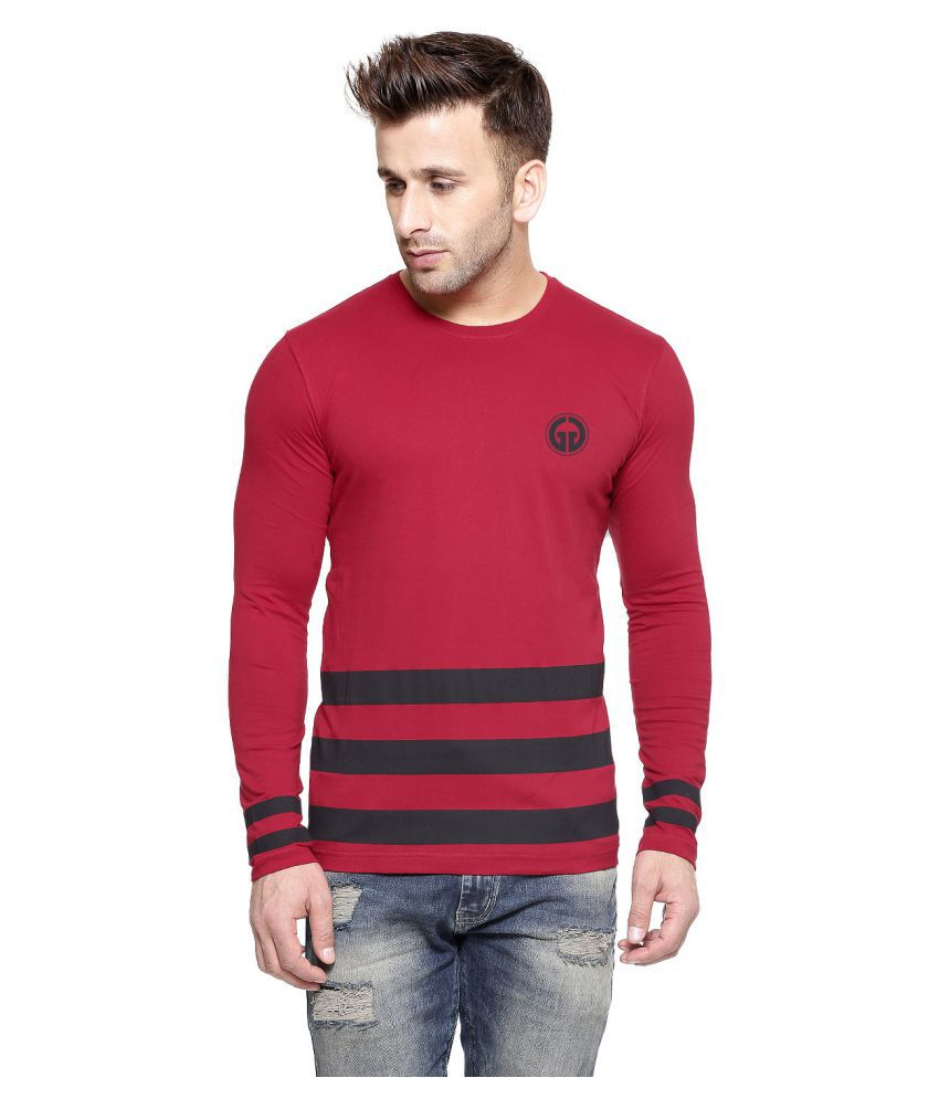 Gespo Red Round T-Shirt