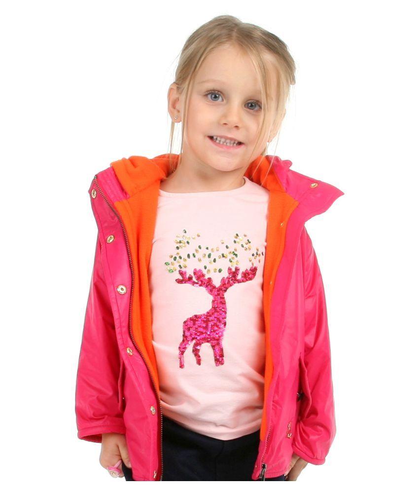 Cherry Crumble California Fleece Line Field Jacket For Girl