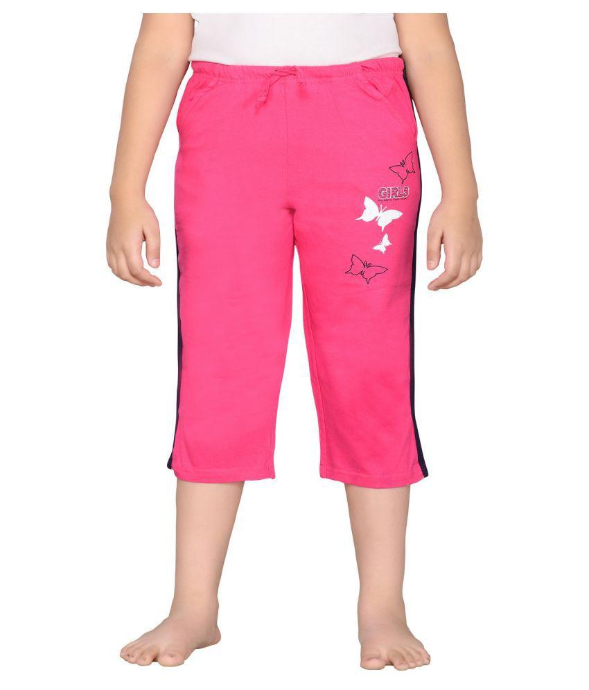 Punkster Pink Cotton Capri