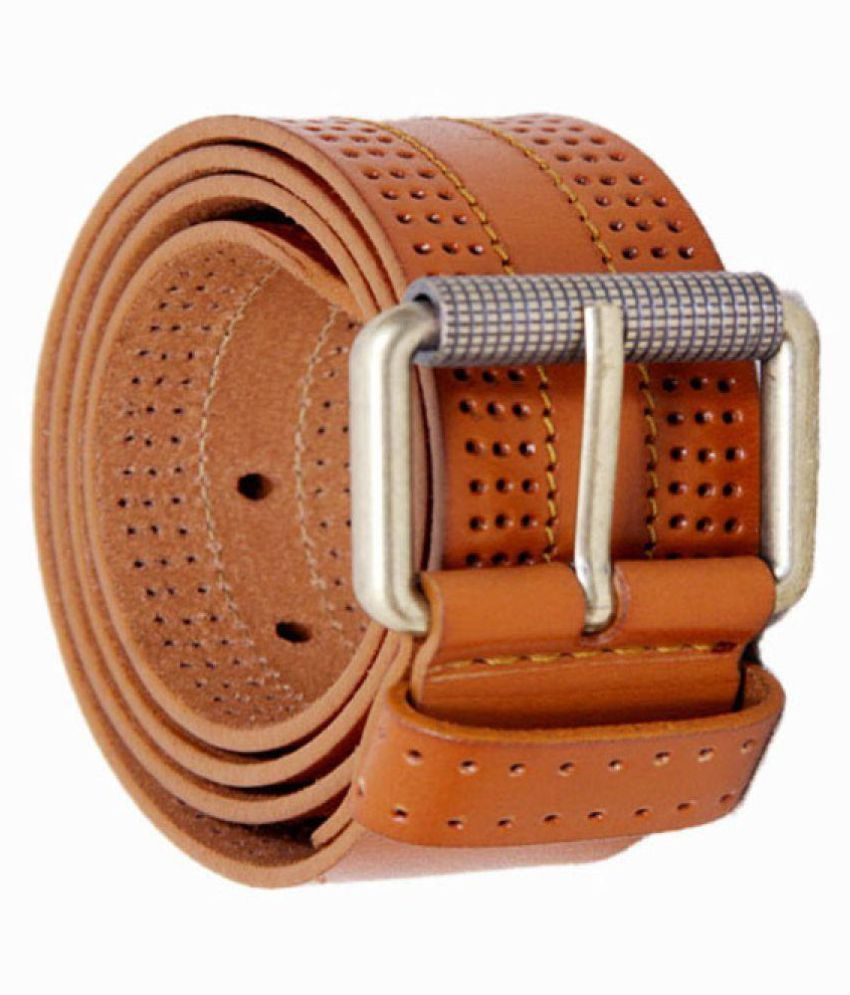 Credence Men's Tan Genuine Leather Casual Belt