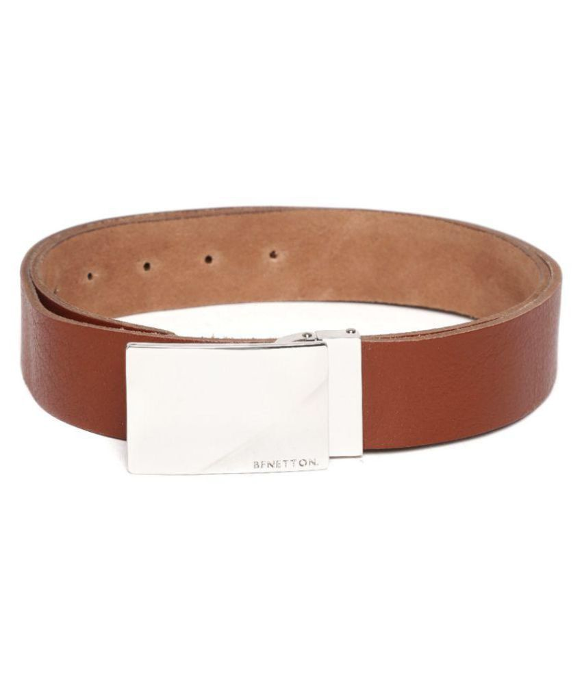 United Colors of Benetton Tan Leather Casual Belts: Buy ...
