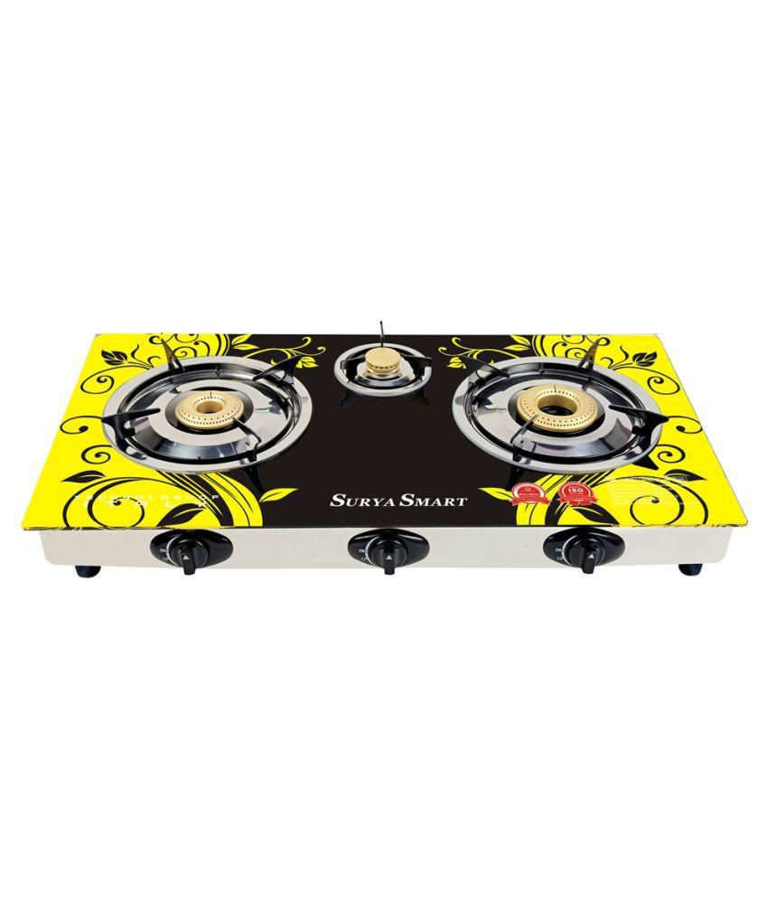 Surya Smart SS205N AI Gas Cooktop (3 Burner)