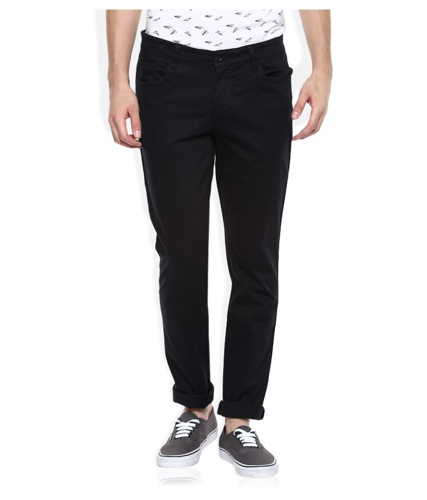 John Players Black Slim Flat Trouser