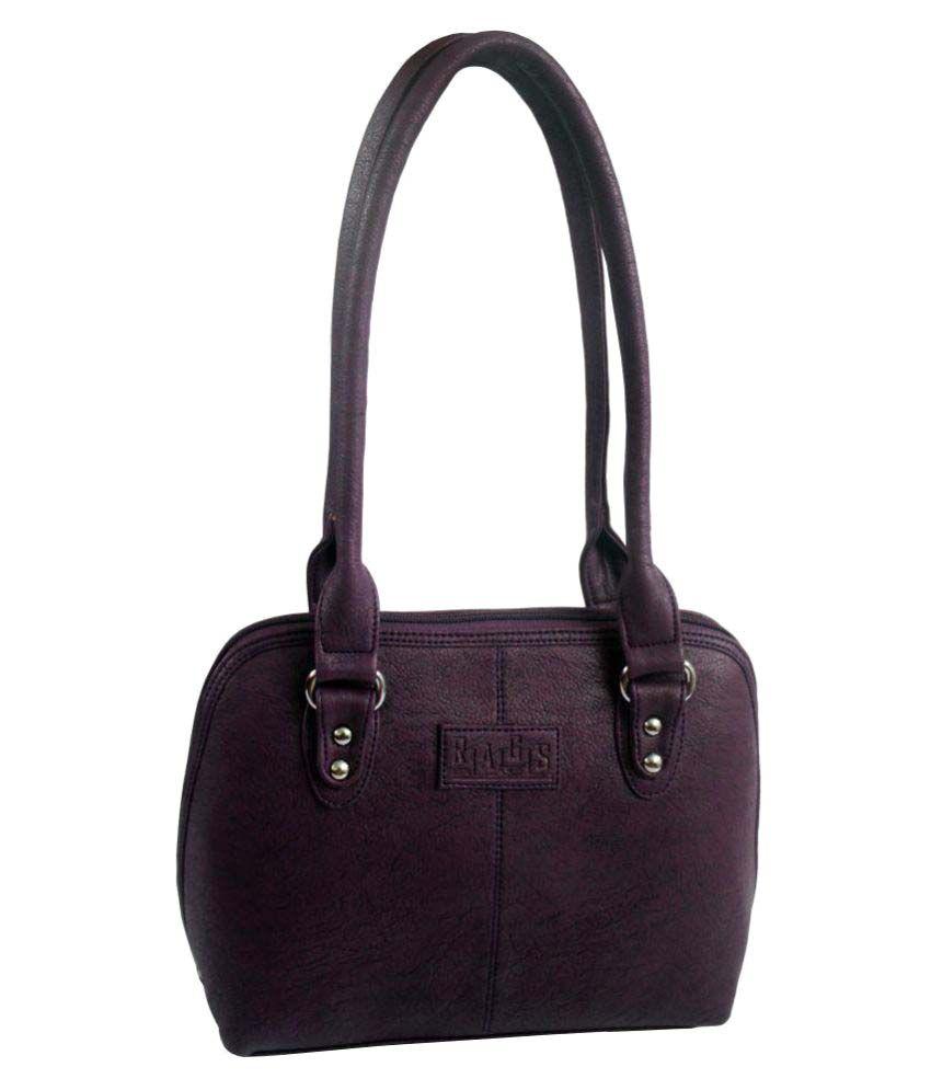 Rags Style Purple P.U. Shoulder Bag