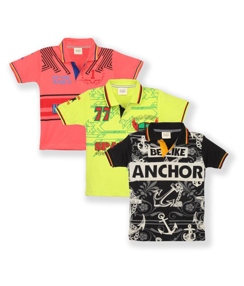82ece436b Tonyboy Boys Printed Polo T-Shirt (Pack of 3) - Buy Tonyboy Boys Printed  Polo T-Shirt (Pack of 3) Online at Low Price - Snapdeal