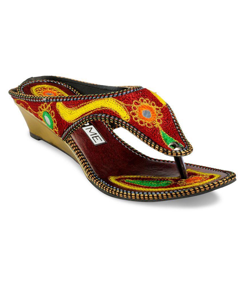 Yepme Multi Color Wedges Heels