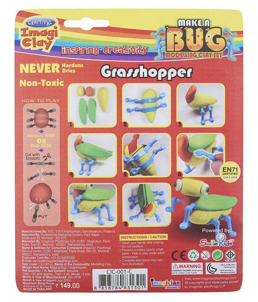 Craftival Imagi Clay Grasshopper CIC-001 C Set of 2