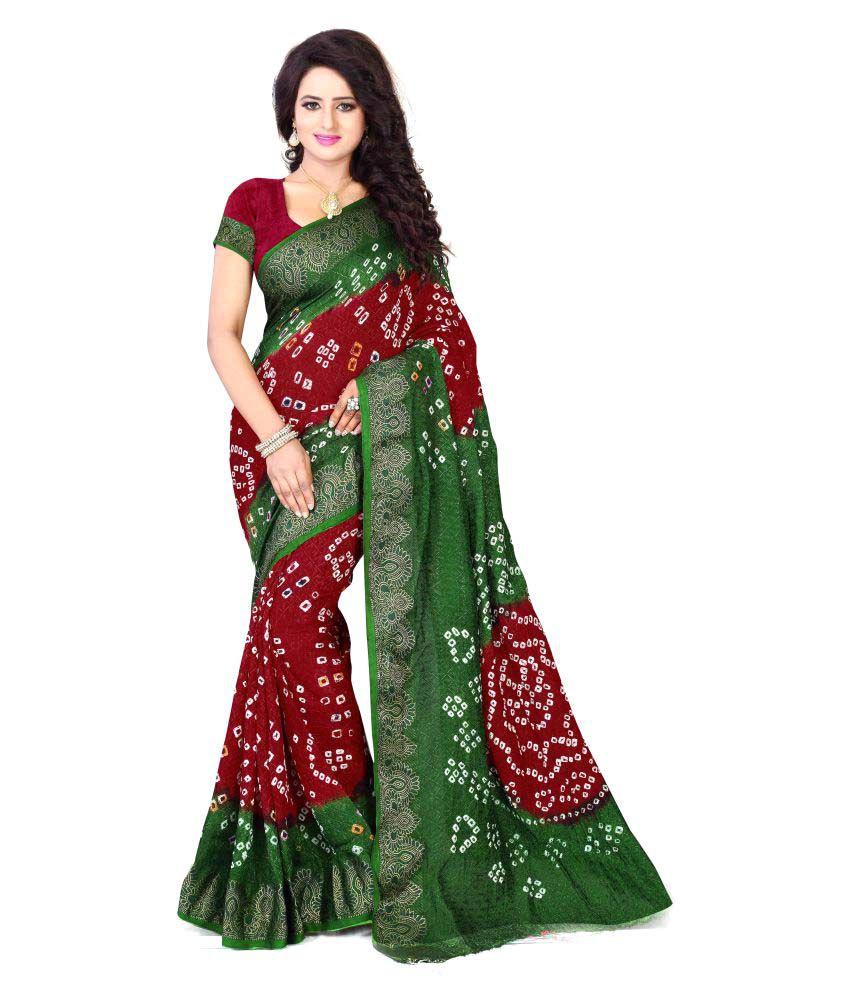 Greenvilla Designs Multicoloured Art Silk Saree