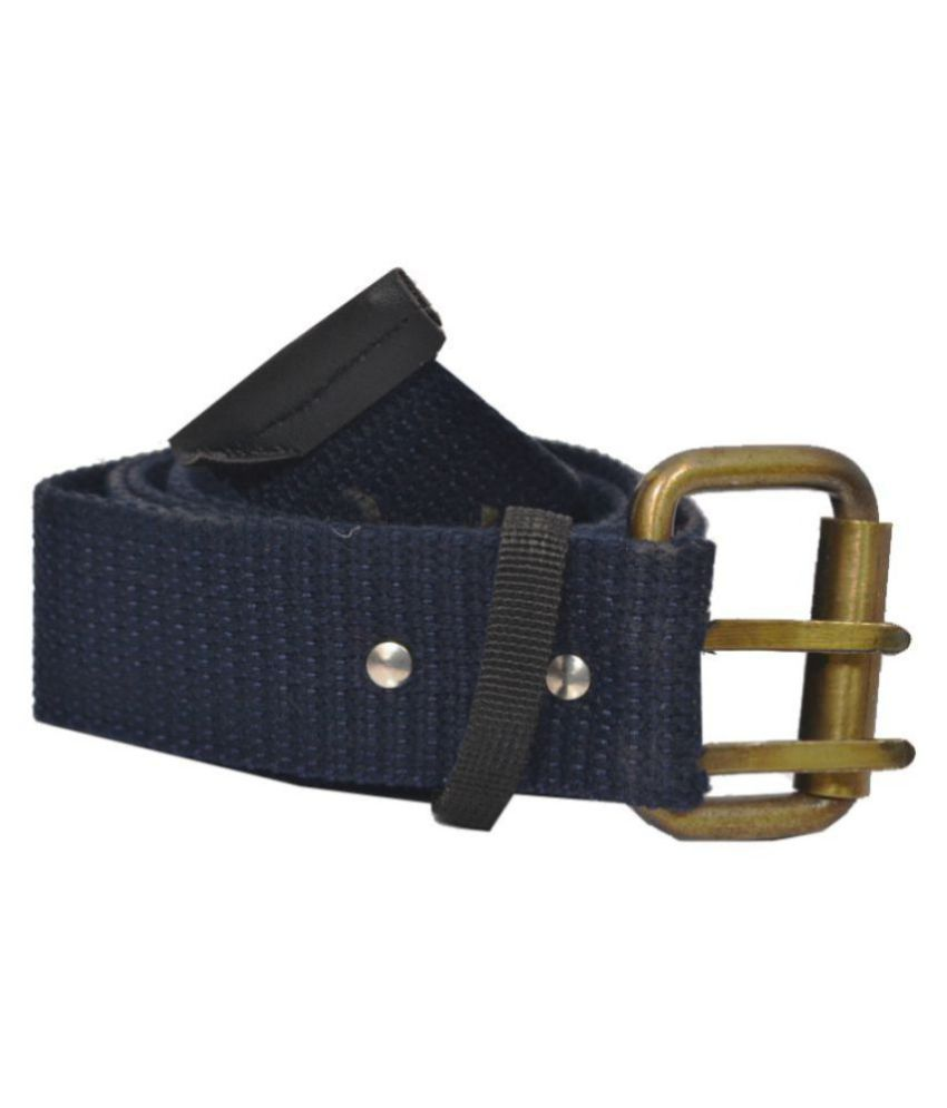 Elligator Blue Canvas Casual Belts