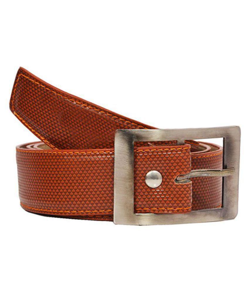 Elligator Brown PU Casual Belts