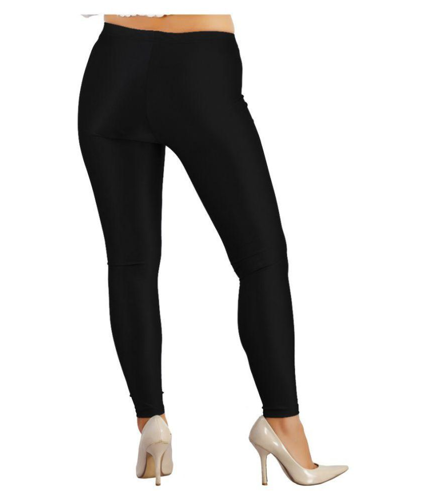 Fit 'N' You Poly Viscose Tights - Black
