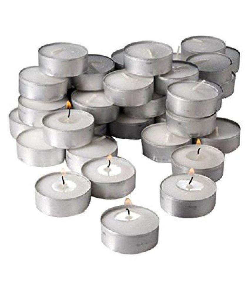 Aadishwar Creations White Wax Tea Light -