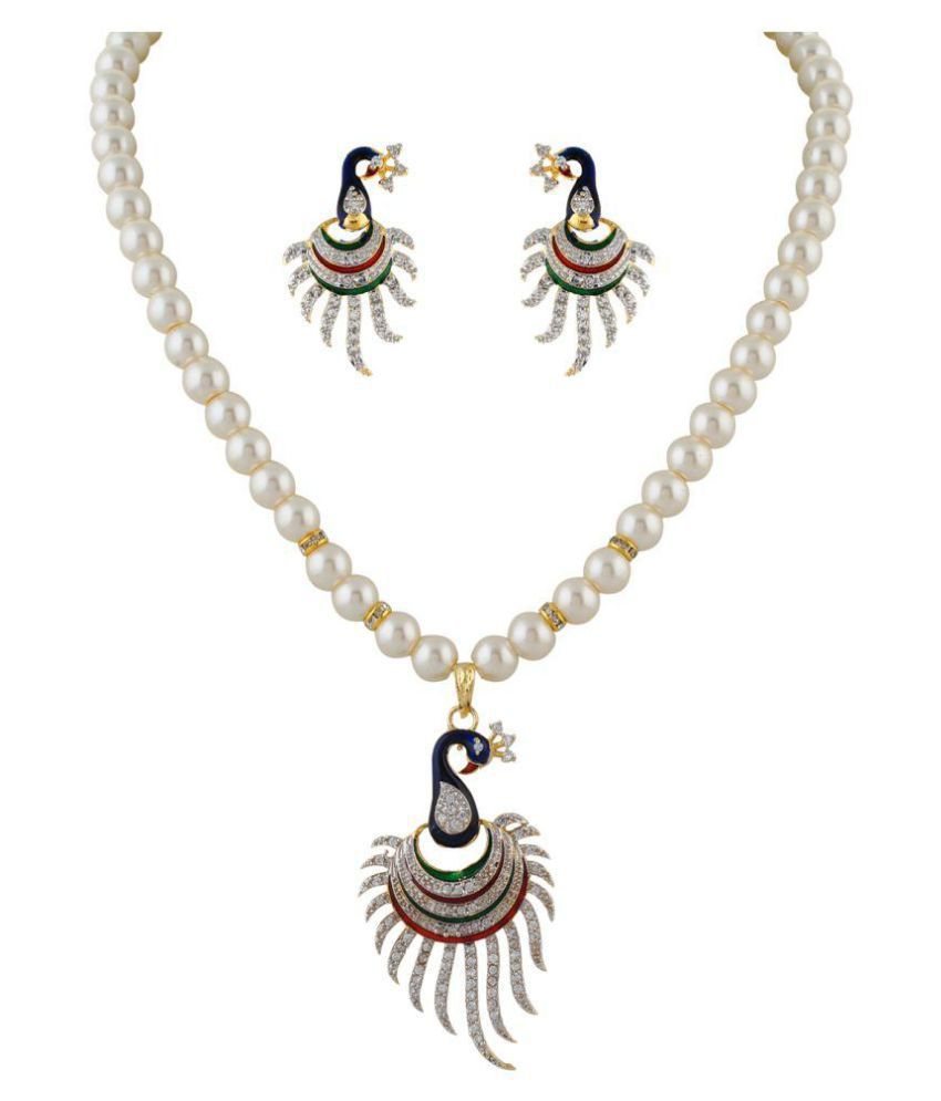 Classique Designer Jewellery Multicolour Necklace Set