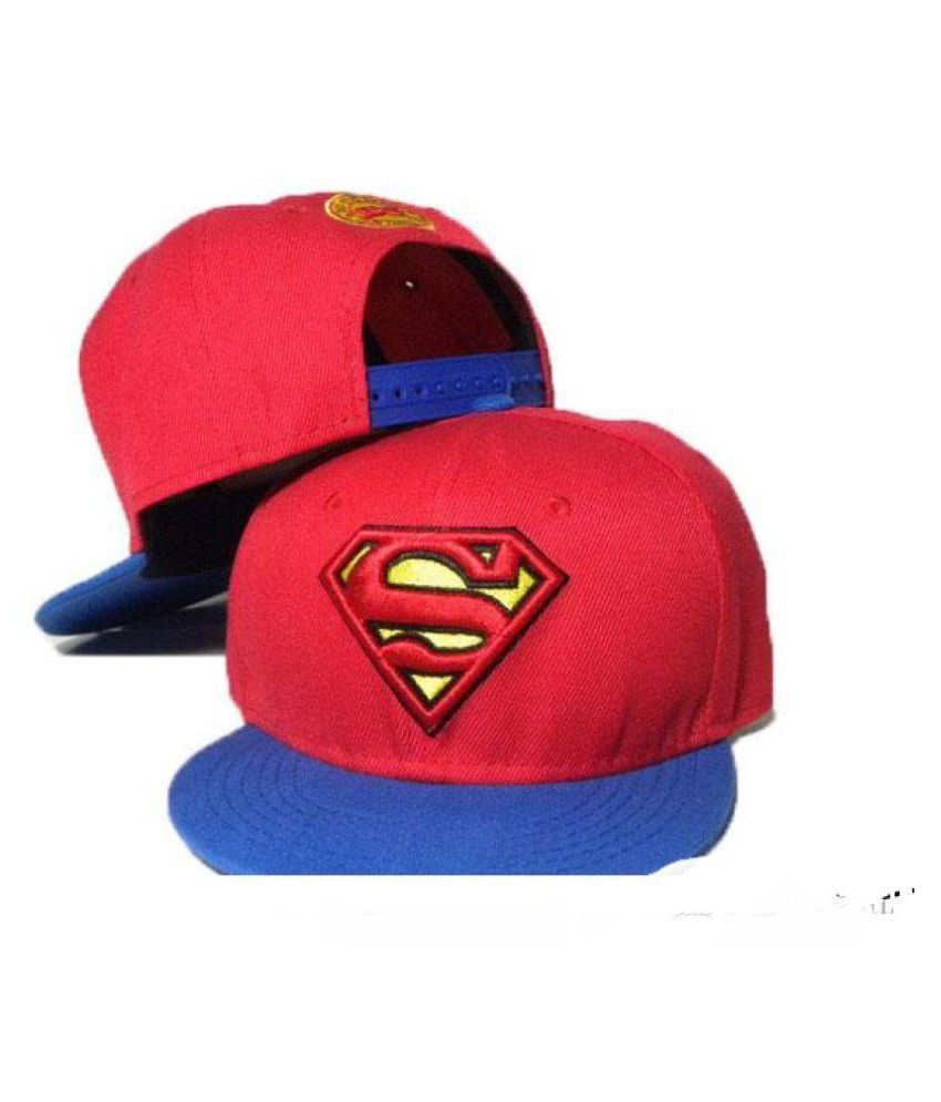 6dbac30586f57 FAS Red Superman Snapback and Hiphop Caps - Buy Online   Rs.