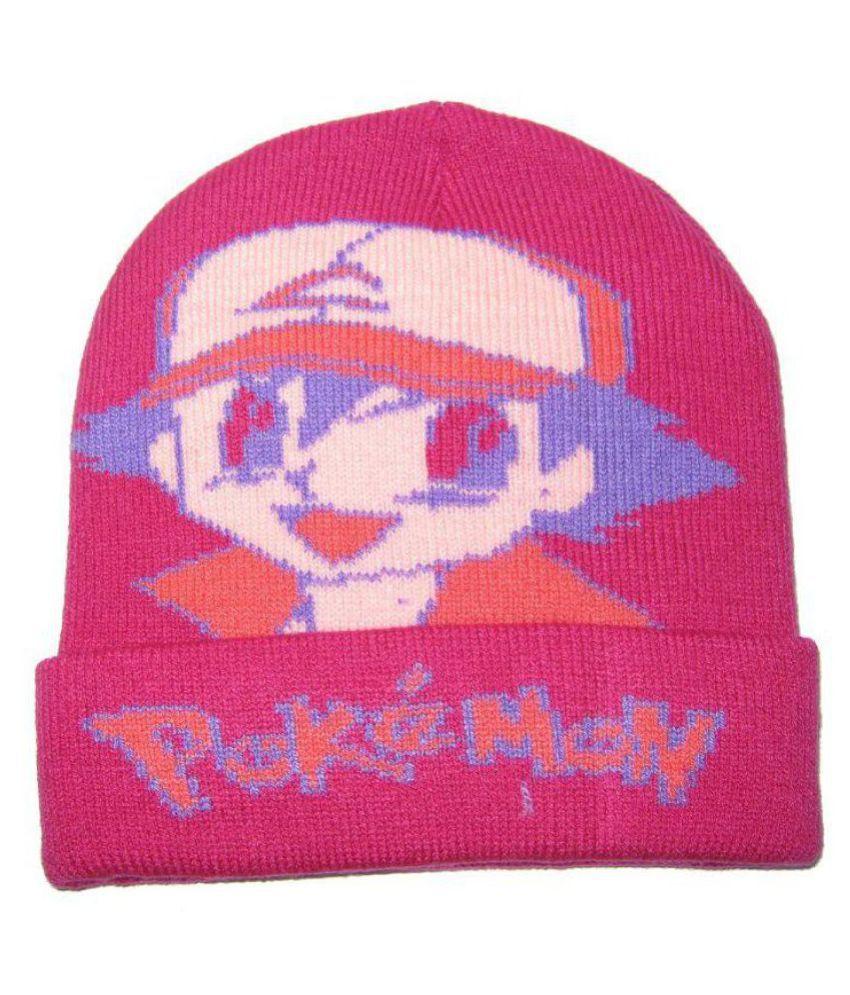 Goodluck Pink Wollen Winter Cap