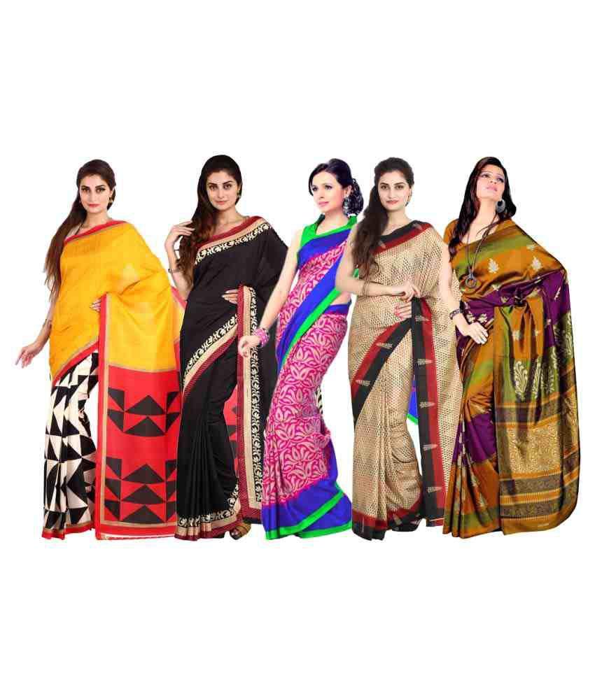 Parchayee Multicoloured Art Silk Saree Combos