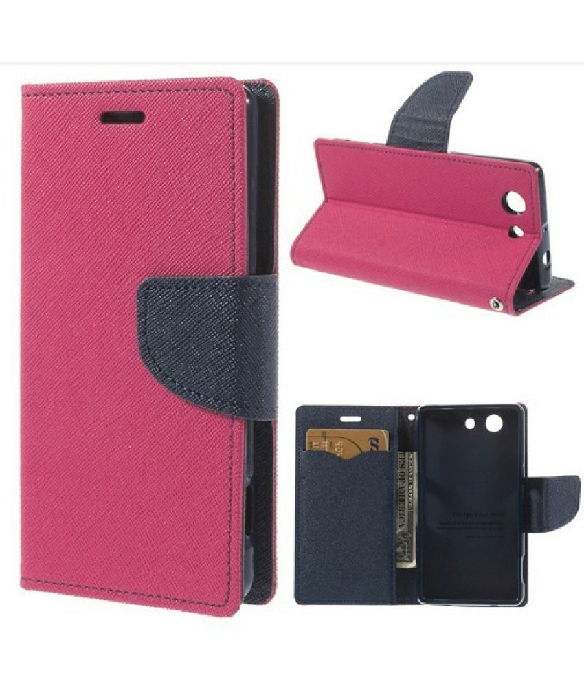 Sony Xperia M2 Flip Cover by Kulasri Empire - Pink