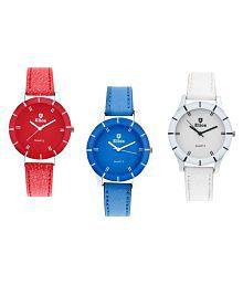 Elios Multi Colors Analog Leather Analog Watches