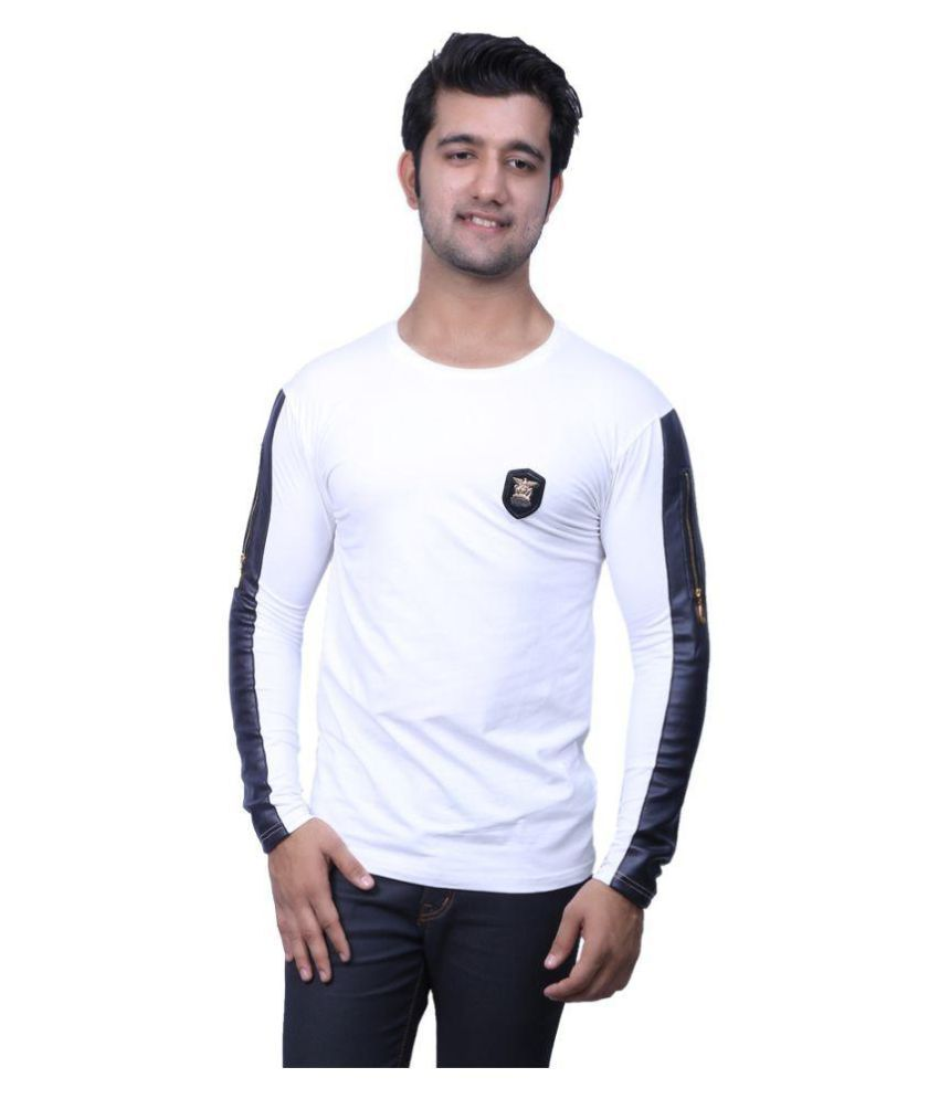 Indian Armour White Round T-Shirt