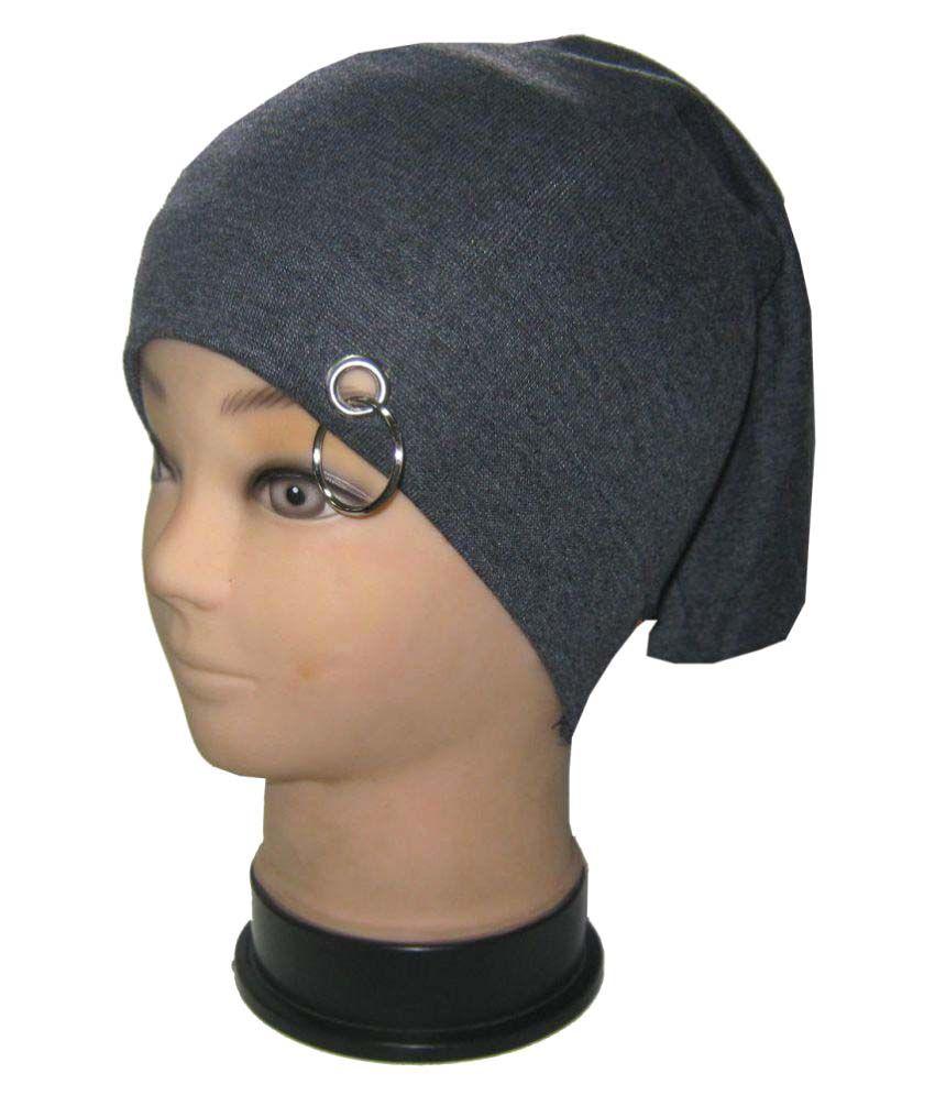 Goodluck Gray Plain Wool Caps