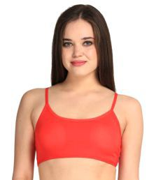 Gopalvilla Red Cotton Lycra Sports Bras - 660008631402