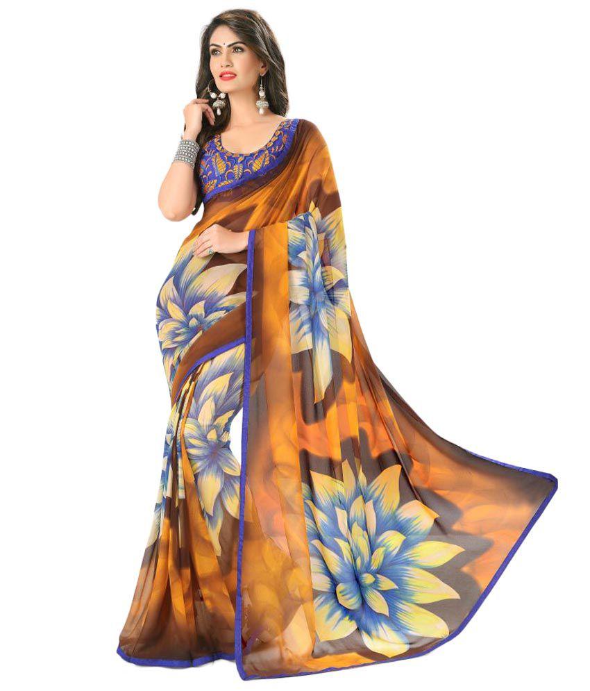 7 Star Jewel Multicoloured Georgette Saree