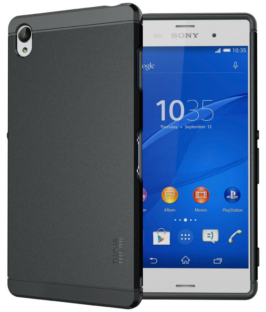 meet fbe78 c711e Sony Xperia Z3 Cover by Tudia - Black - Plain Back Covers Online at ...