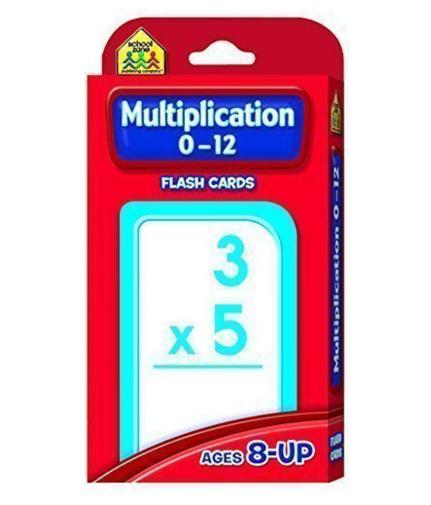 Multiplication 0 12 Flash Cards [Set Of 3]