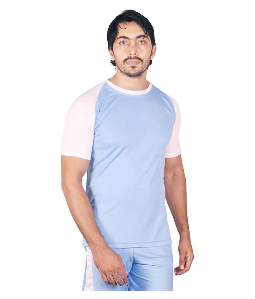 Dyed Colours Blue Round T-Shirt