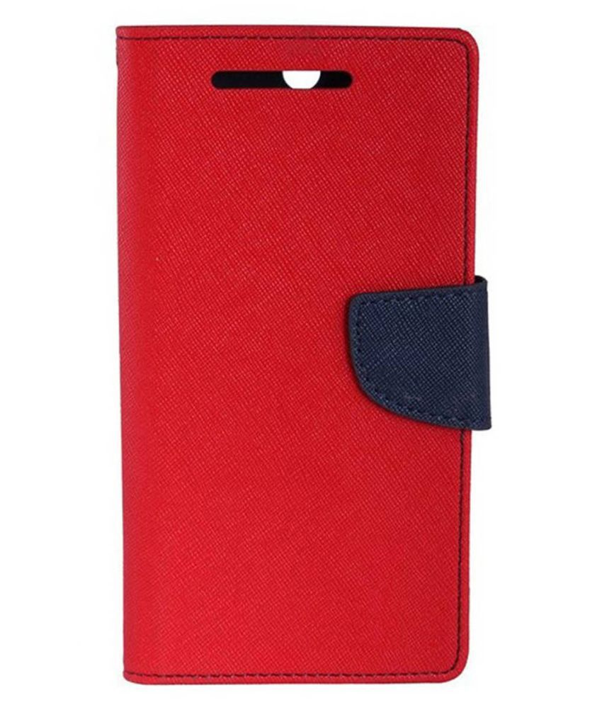 Samsung Galaxy Grand 2 Flip Cover by Top Grade - Red