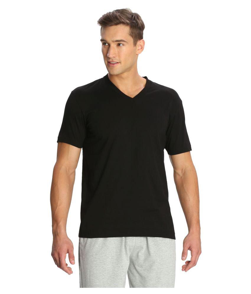 Jockey Black V-Neck T-Shirt Pack of 2